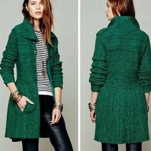 Free People Emerald Loch Raven Sweater - Size M